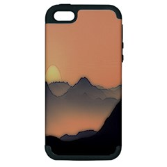 Mountains Apple iPhone 5 Hardshell Case (PC+Silicone)