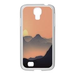 Mountains Samsung GALAXY S4 I9500/ I9505 Case (White)