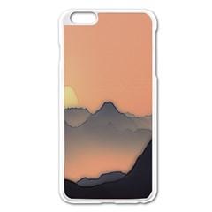 Mountains Apple iPhone 6 Plus/6S Plus Enamel White Case