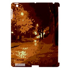 Night Lights Apple iPad 3/4 Hardshell Case (Compatible with Smart Cover)