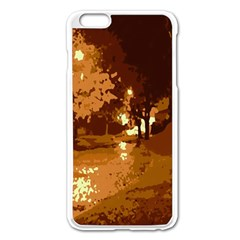 Night Lights Apple Iphone 6 Plus/6s Plus Enamel White Case