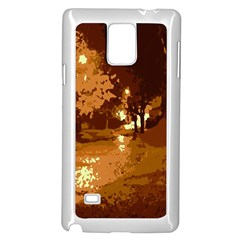 Night Lights Samsung Galaxy Note 4 Case (white)