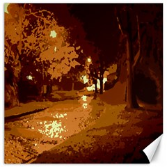 Night Lights Canvas 12  X 12