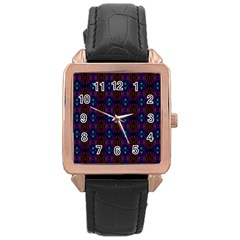 Alien Organic Rose Gold Leather Watch