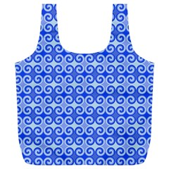 Blue Moroccan Full Print Recycle Bags (l)