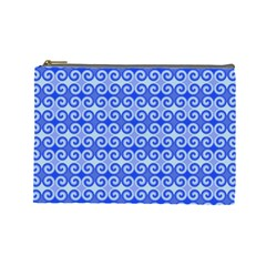 Blue Moroccan Cosmetic Bag (Large)