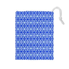 Blue Moroccan Drawstring Pouches (large)