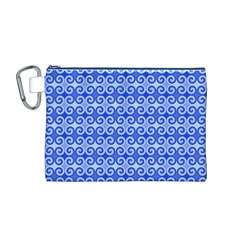 Blue Moroccan Canvas Cosmetic Bag (m)