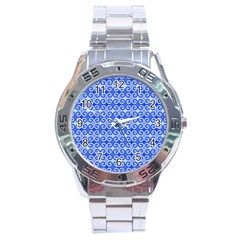 Blue Moroccan Stainless Steel Analogue Watch