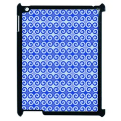 Blue Moroccan Apple iPad 2 Case (Black)