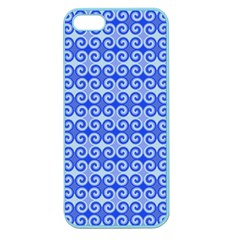 Blue Moroccan Apple Seamless Iphone 5 Case (color)
