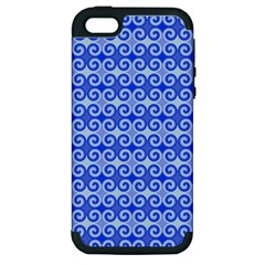 Blue Moroccan Apple iPhone 5 Hardshell Case (PC+Silicone)