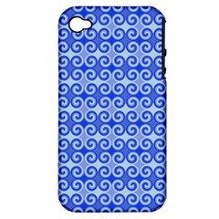 Blue Moroccan Apple Iphone 4/4s Hardshell Case (pc+silicone)
