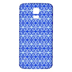 Blue Moroccan Samsung Galaxy S5 Back Case (White)
