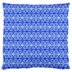 Blue Moroccan Large Cushion Case (two Sides)
