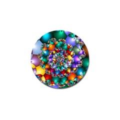 Rainbow Spiral Beads Golf Ball Marker