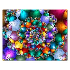 Rainbow Spiral Beads Rectangular Jigsaw Puzzl