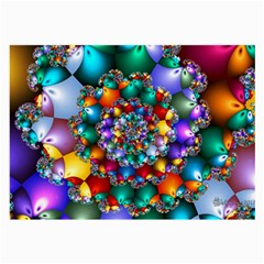Rainbow Spiral Beads Large Glasses Cloth (2-Side)