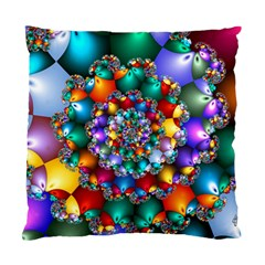 Rainbow Spiral Beads Standard Cushion Case (Two Sides)