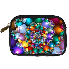 Rainbow Spiral Beads Digital Camera Cases