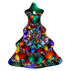 Rainbow Spiral Beads Christmas Tree Ornament (Two Sides)