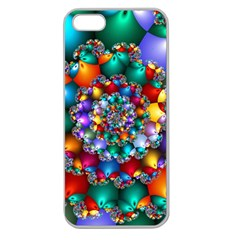 Rainbow Spiral Beads Apple Seamless iPhone 5 Case (Clear)