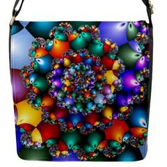 Rainbow Spiral Beads Flap Messenger Bag (S)