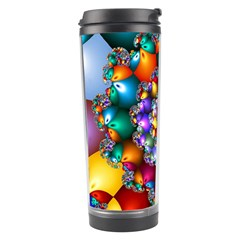 Rainbow Spiral Beads Travel Tumbler