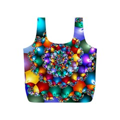 Rainbow Spiral Beads Full Print Recycle Bags (S)