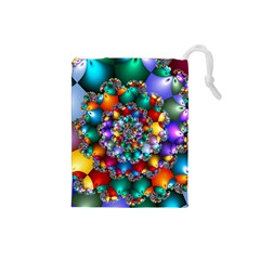 Rainbow Spiral Beads Drawstring Pouches (Small)