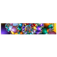 Rainbow Spiral Beads Flano Scarf (Small)