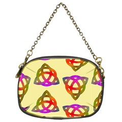 Celtic Knot Pastel Large Chain Purses (Two Sides)