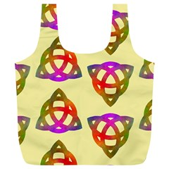 Celtic Knot Pastel Large Full Print Recycle Bags (l)