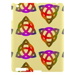 Celtic Knot Pastel Large Apple iPad 3/4 Hardshell Case