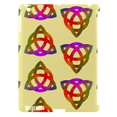 Celtic Knot Pastel Large Apple iPad 3/4 Hardshell Case (Compatible with Smart Cover)