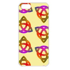 Celtic Knot Pastel Large Apple iPhone 5 Seamless Case (White)