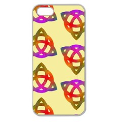 Celtic Knot Pastel Large Apple Seamless Iphone 5 Case (clear)