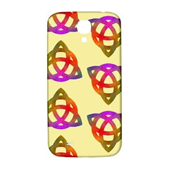 Celtic Knot Pastel Large Samsung Galaxy S4 I9500/I9505  Hardshell Back Case