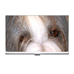 Bearded Collie Eyes Business Card Holders