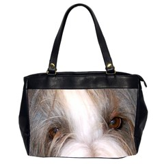 Bearded Collie Eyes Office Handbags (2 Sides)