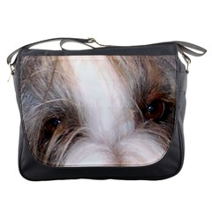 Bearded Collie Eyes Messenger Bags