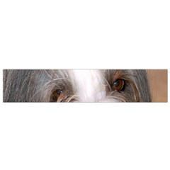 Bearded Collie Eyes Flano Scarf (Small)