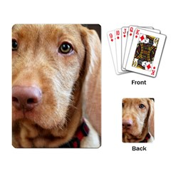Vizsla second Playing Card