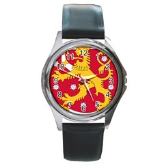 Coat of Arms of Finland Round Metal Watch