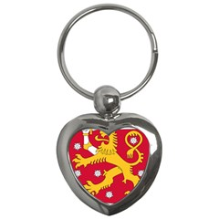 Coat of Arms of Finland Key Chains (Heart)