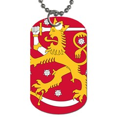 Coat of Arms of Finland Dog Tag (One Side)