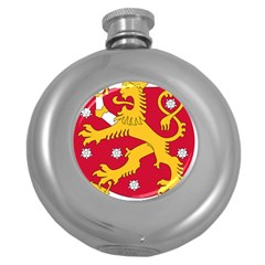 Coat of Arms of Finland Round Hip Flask (5 oz)