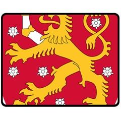 Coat of Arms of Finland Fleece Blanket (Medium)