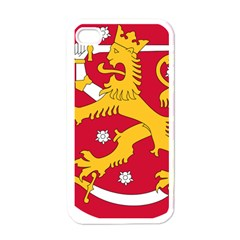 Coat of Arms of Finland Apple iPhone 4 Case (White)