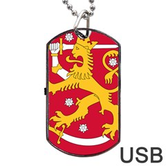 Coat of Arms of Finland Dog Tag USB Flash (One Side)